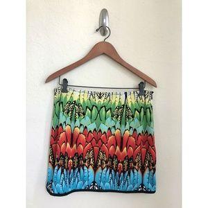 Boston Proper Womens Floral Mini Skirt Spring Sz 8